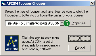ASCOM Focuser Choose...
